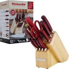 kitchen aid knives kitchenaid 12 piece forged cutlery set yugster