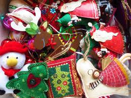christmas decorations little tin bird