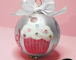cupcake ornament etsy