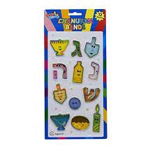 hanukkah toys chanukah shaped rubber bands menorah dreidel gelt coin and