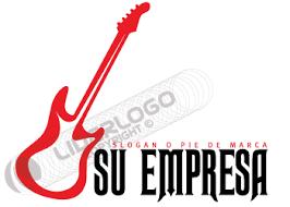 imagenes logos musicales logo de guitarra eléctrica liderlogo