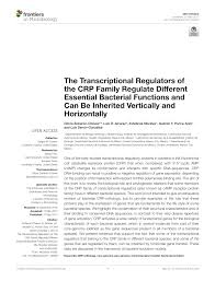 the transcriptional regulators of the crp family regulate
