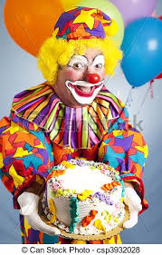 two cheerful clowns birthday children bright stock photo happy birthday clown with cake happy birthday clown holding