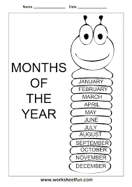 days of the week u0026 months of the year early academics