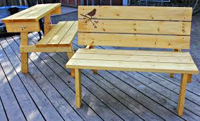 How To Build A Round Picnic Table And Benches by The Good Kind Of Crazy Convertible Bench Picnic Table You Can