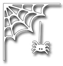 halloween dies frantic stamper precision die spiderweb corner and spider