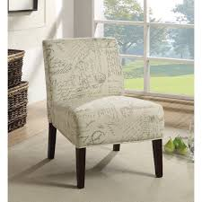 Patterned Living Room Chairs Furniture Armless Accent Chair For An Exceptionally Comfortable