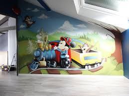 deco mickey chambre gimus décoration chambre d enfant graffiti mickey tic et tac