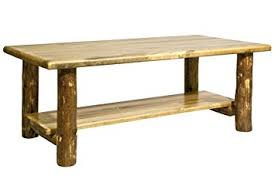 Stained Coffee Table Amazon Com Montana Woodworks Collection Glacier Country Log