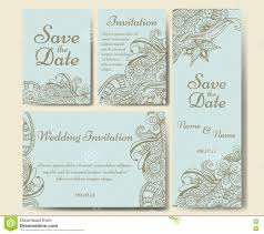 Invitation For Marriage Card Vector Template For Wedding Set Of Invitations For Thank You