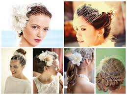 wedding hairstyles with a birdcage veil hair world magazine
