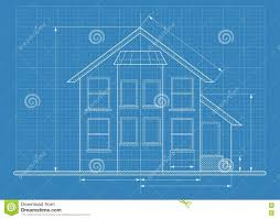 technical drawing house blueprint stock vector image 74585341