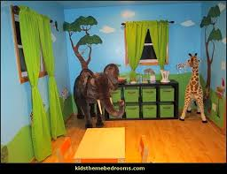 Jungle Nursery Wall Decor Jungle Wall Stencils For Jungle Theme Wall Mural For Nursery Wall