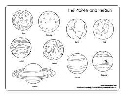 printable coloring page of the solar system