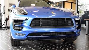 Porsche Macan Blue - 2017 porsche macan gts youtube