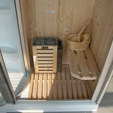sauna in bagno cabina box doccia con idromassagio multifunzione cristel sauna e