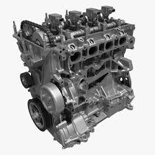 4 cylinder engine 4 cylinder engine block 01 3d cgtrader