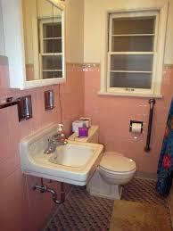 vintage pink bathroom ideas with retro pink tiles pink retro