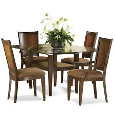 Round Glass Top Dining Table Set Wood Dining Table With Glass Top Home Design Ideas