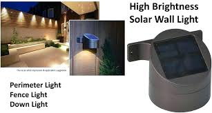 Solar Lights Fence - sconce solar powered wall sconce 400lumens max 32 led solar
