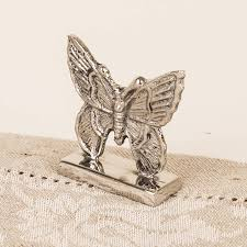 nickel plated butterfly name place holder by dibor