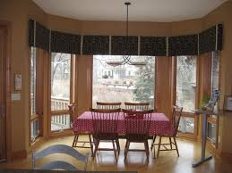 dining room bay window treatments images of dining room window