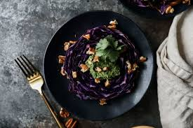 Recipes For A Dinner Party - red cabbage steaks with cilantro pesto jessi u0027s kitchen