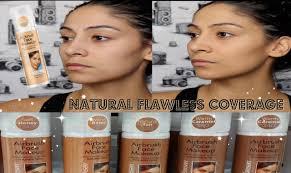 new sally hansen airbrush face foundation review demo youtube