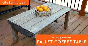 Pallet Coffee Tables Make Your Own Pallet Coffee Table Life Sanity