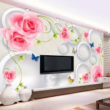 online get cheap wallpapers living room flower aliexpress com custom photo wall paper 3d wall murals wallpaper modern art painting rose flowers 3d stereoscopic mural living room wallpaper