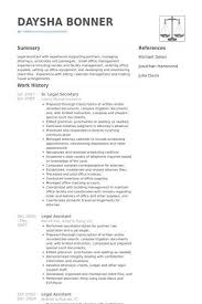Paralegal Resume Example Legal Assistant Resume Sample Legal Resumes Legal Secretary