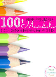 100 free printable mandala coloring pages adults