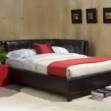 Standard Bedroom Furniture by Full Size Daybed Frame Platform Bed Tufted Headboard Modern