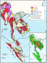 Southeastern Asia Map by Map Of Indochina And Southeast Asia Bioregions Showing Tiger