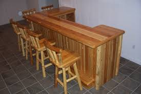 Unfinished Bar Table Types Of Rustic Wood Bar Stools