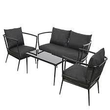canape jardin aluminium salon de jardin fauteuil canapé de jardin mobilier de jardin