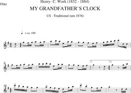 grandfather s my grandfather s clock johannes christoph andreas zahn sheet
