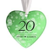 Anniversary Ornament Emerald Wedding Anniversary Christmas Tree Decorations U0026 Ornaments