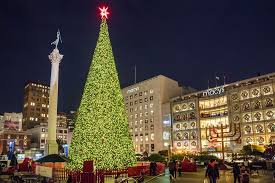 sf christmas tree lighting 2017 san francisco s union square at christmas photo tour