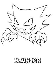 haunter coloring pages hellokids com