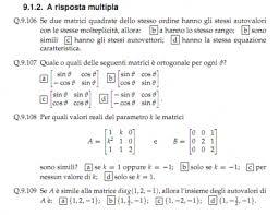 dispense algebra lineare correzione domande a risposta multipla di algebra lineare