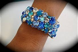 rhinestone cuff bracelet images Tropical blue crystal cuff bracelet the crystal rose bridal jpg