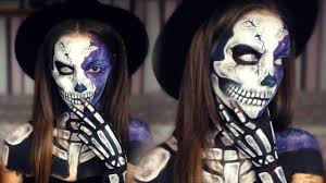 Halloween Skull Face Makeup by Galaxy Skull Halloween Makeup Melania Yaneva Youtube
