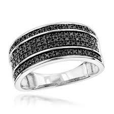 unique wedding band unique wedding rings 10k gold 5 row black diamond wedding band