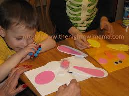 kids crafts making easter bunny and hand puppet u2013 the night