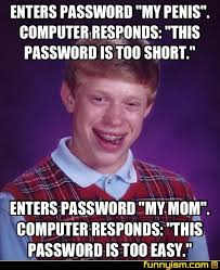 Password Meme - enters password my penis computer responds this password is