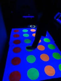 Glow In The Dark Party Decorations Ideas Make Your Own Glow In The Dark Twister Game Glow Paint Dark And