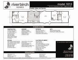 Plumbing Floor Plan Riverbirch Homes Single Wide Floor Plans