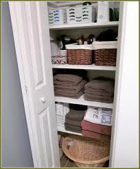 small linen closet organization home design ideas