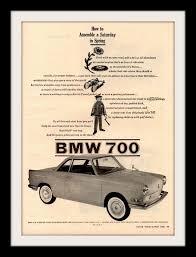 bmw bavarian motors 1960 bmw 700 car ad bavarian motor works motor works and bmw